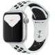 Apple Watch Series 5 GPS 40mm Silver Aluminum Case with Pure Platinum Black Nike Sport Band MX3R2